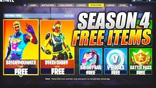 "*NEW* How To Get FREE Skins In Fortnite Battle Royale ""Bright Gunner"" + ""Bright Bag"" Season 4 #USKRC"