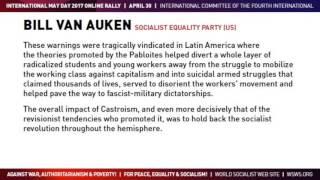 May Day 2017   Bill Van Auken