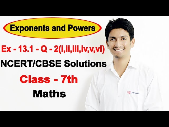 Chapter 13 Exercise 13.1 Question 2 - Exponents and Powers Class 7 Maths - NCERT Solutions