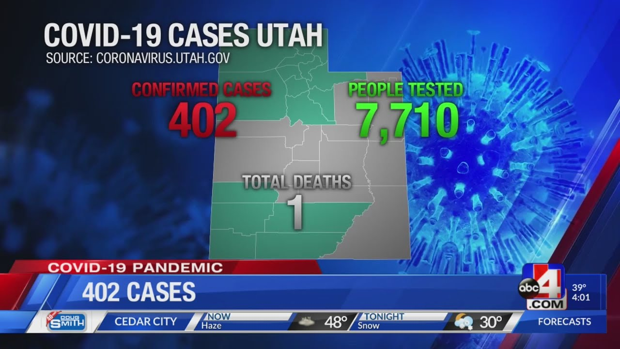 Coronavirus in Utah: 402 people in the state with COVID-19 (March 26)