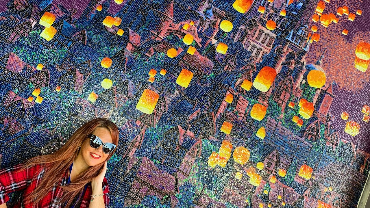 The Beautiful Tangled Mural At Disney S Riviera Resort Youtube