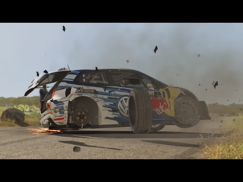 Dirt rally crashes