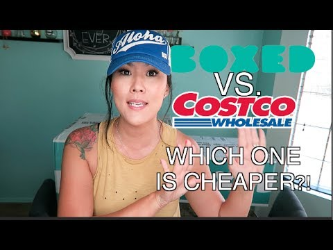 BOXED VS. COSTCO   WHICH ONE IS CHEAPER?! I'M SHOCKED!