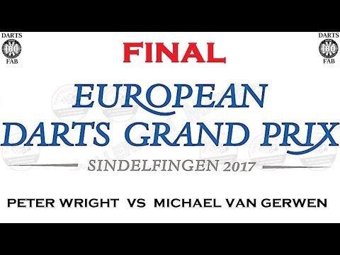 European Darts Grand Prix 2017 FINAL & Interview - Peter Wright vs Michael van Gerwen