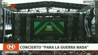 Pro-Maduro concert begins in Venezuela