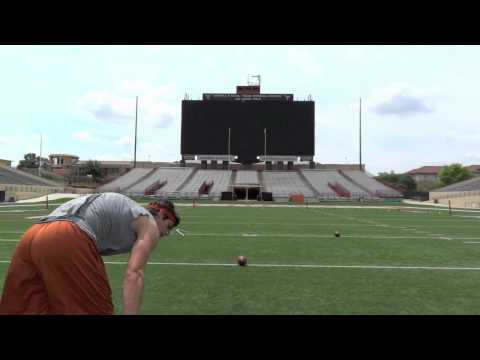NFL Draft 2012 - Justin Tucker, Texas Kicker - 10 for 10 FGs Running Video