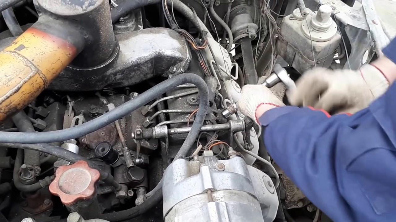 Урал 4320 часть 4 . Снятие форсунок с двигателя камаз 740.