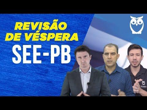 Concurso SEE-PB: Revisão De Véspera
