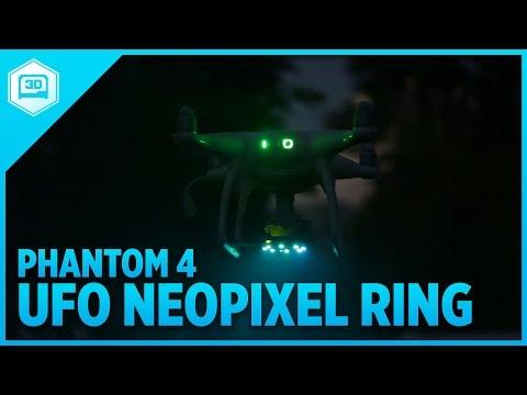 UFO Drone LEDs -  NeoPixel for Phantom 4 #3DPrinting