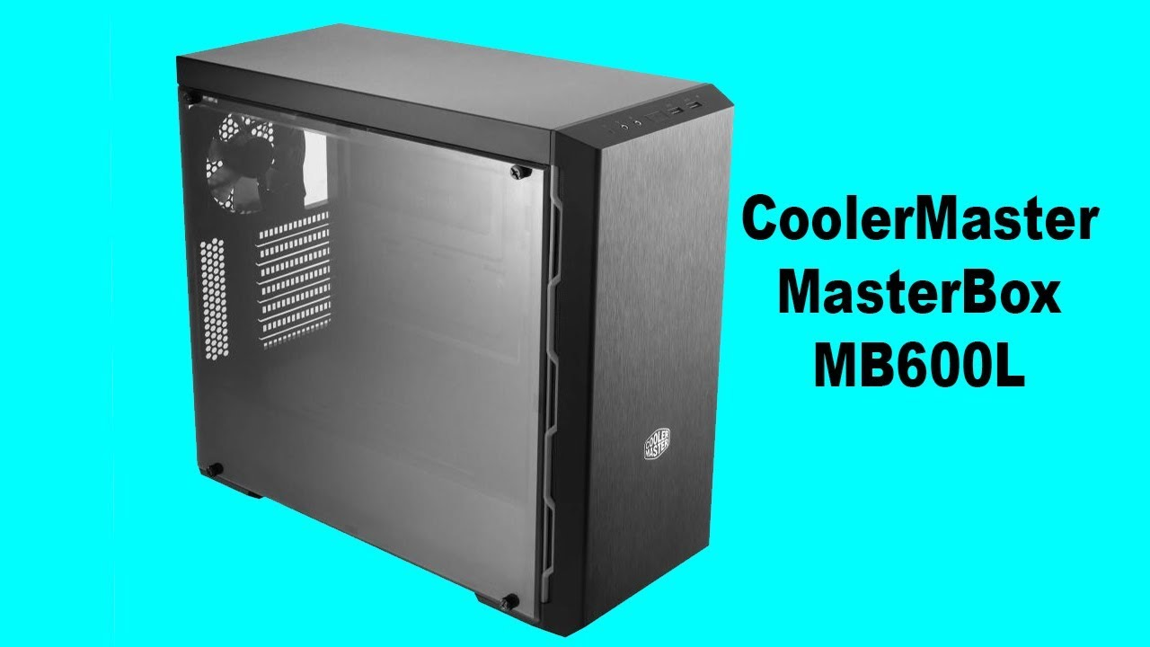 Red Side T Cooler Master MasterBox MB600L ATX Mid-Tower w// Sleek Brushed Design
