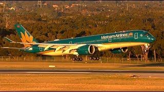 SUPER SMOOTH Aircraft Landings   A330 787 A350   Melbourne Airport Plane Spotting