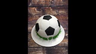 Оформление торта футбольный мяч_How to make cake football balls_Como fazer uma bola de futebol bolo