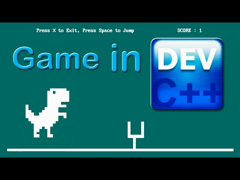 C Game Tutorial Dinosaurs Game In Dev C With Source Code