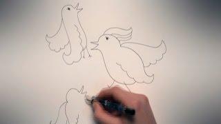 Kijk Hoe teken je vogels filmpje