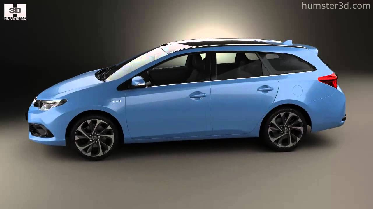 toyota auris touring sports hybrid 2015 by 3d model store youtube. Black Bedroom Furniture Sets. Home Design Ideas