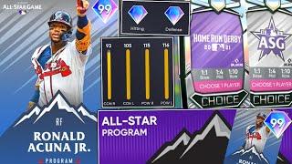 99 RONALD ACUNA JR IS HERE! NEW ALL STAR PROGRAM IS INSANE! MLB The Show 21 Diamond Dynasty