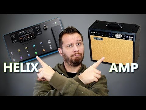 Line 6 HELIX vs TUBE AMP - Can You Hear The Difference??