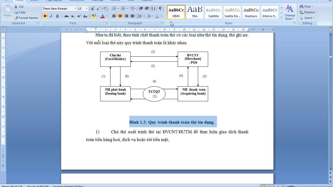 Cách tạo mục lục, tạo mục lục bảng và đồ thị trong word đơn giản nhất (Phần 2)