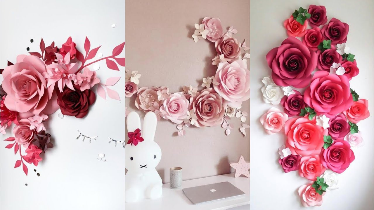Beautiful Paper Flower Backdrop Ideas Stylish Paper Flower Decoration
