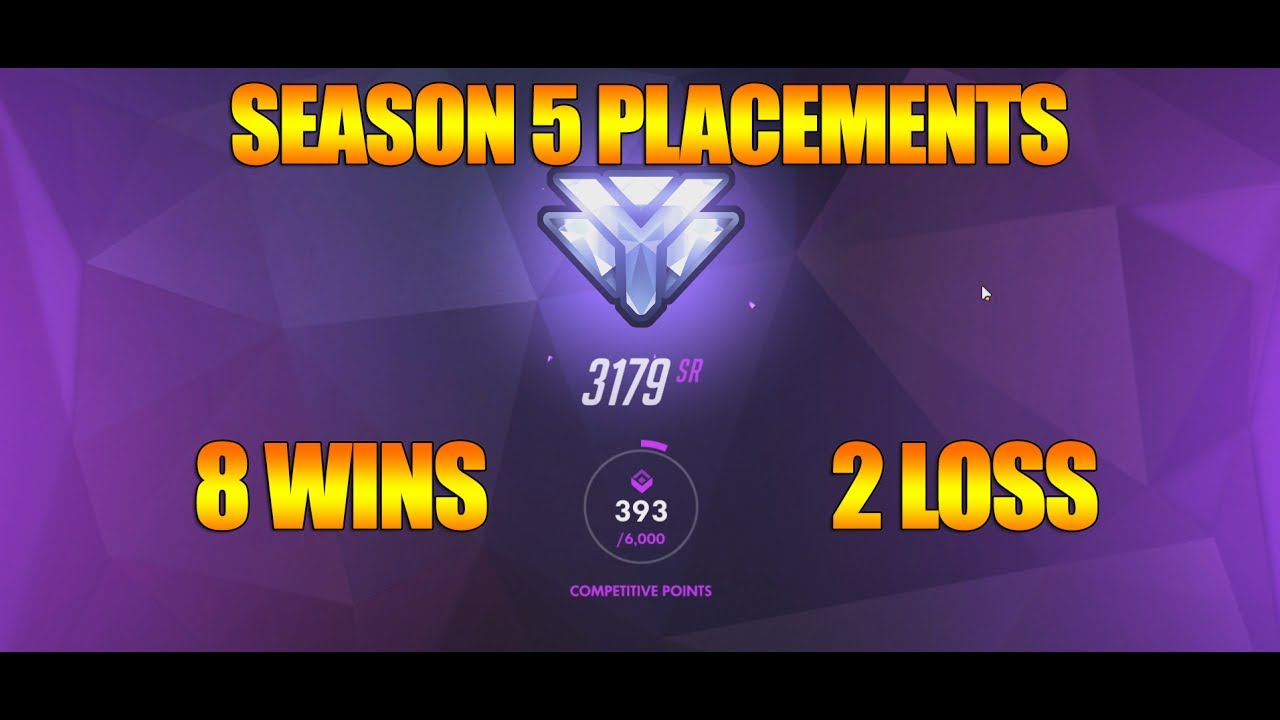 overwatch season 5 widowmaker placement matches 8 wins how to rank