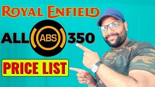 Zapętlaj Royal Enfield 350cc ABS Model PRICE LIST (NEW) | Bullet Guru