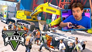GTA 5 REPO MOD Mob Attack During an Excavator Repossession! (GTA 5 PC MODS GAMEPLAY)