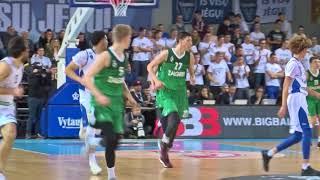 LaMelo And LiAngelo Ball highlights first half against Zalgiris-2