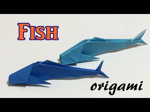 Origami Fish Tutorial Step By Step | How To Make A Paper Fish Easy For Kids And Beginners