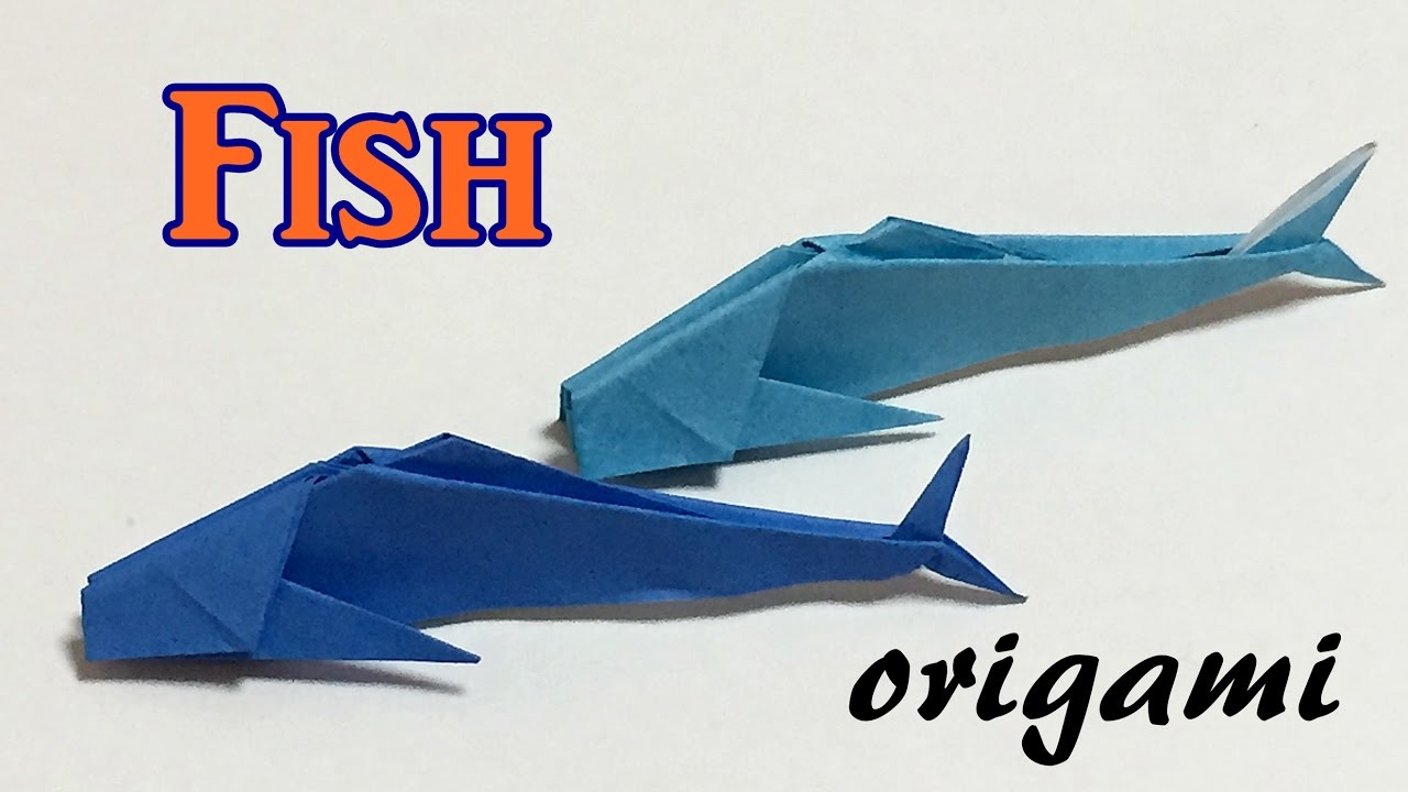 Origami fish tutorial