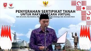 Penyerahan Sertipikat Secara Virtual Provinsi Gorontalo 10 Juli 2020