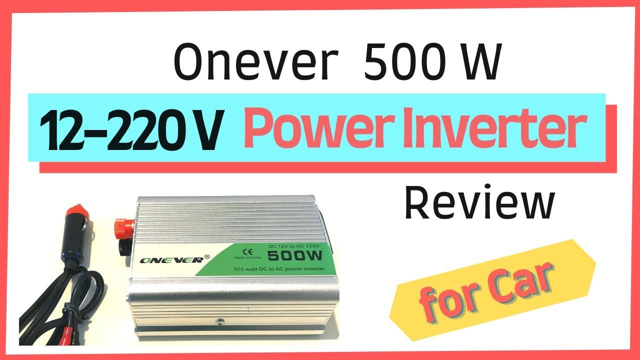 Araç için 12-220V dönüştürücü incelemesi (Car Inverter Review) | Onever 500W