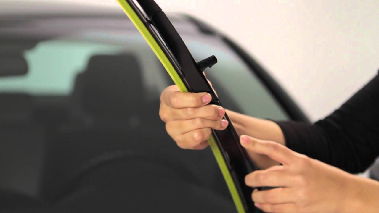 Rain X Expert Fit Hybrid Wiper Blade Installation Small J Hook