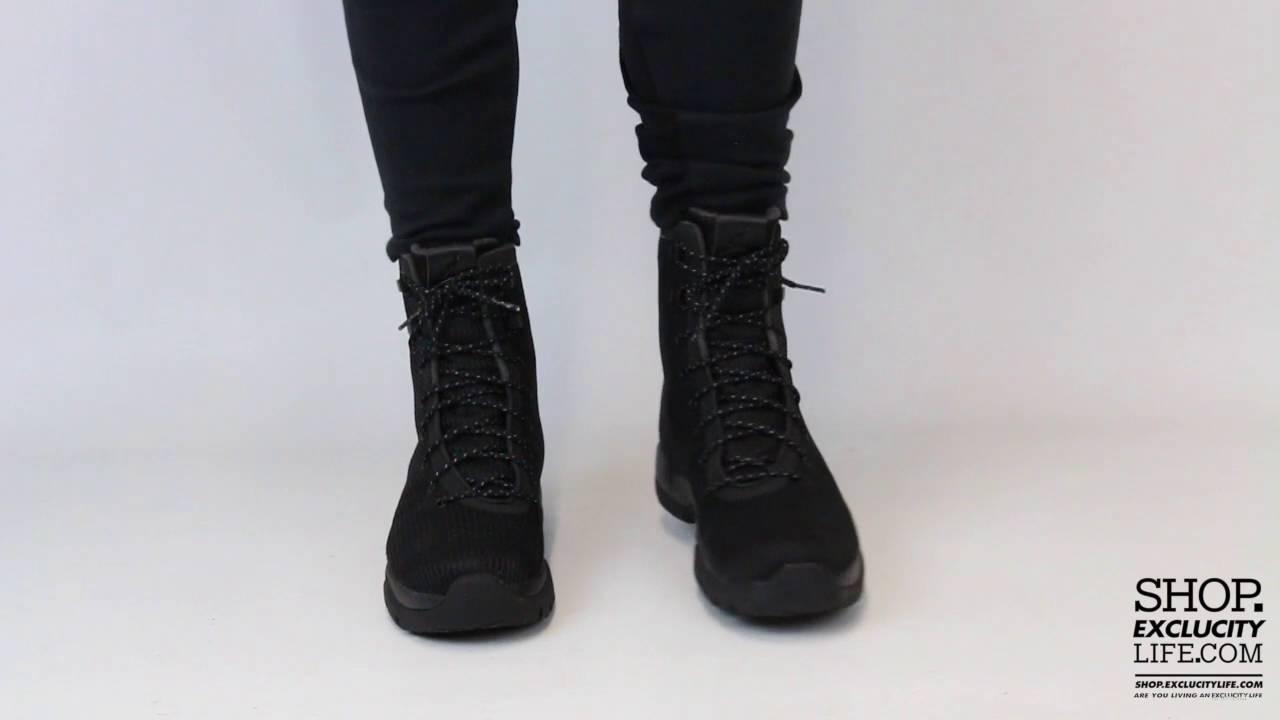 c6e3d89c7810f5 Jordan Future Boots Triple Black On feet Video at Exclucity - YouTube