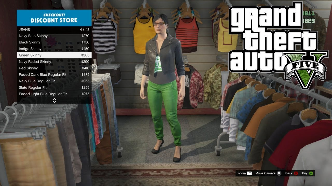 GTA Online Gameplay: Clothes Store Gameplay - Clothes Shopping,  Customisation