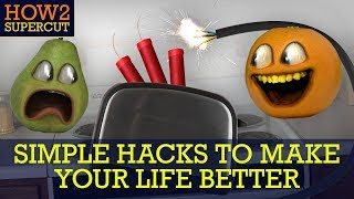 Annoying Orange - HOW2 Do Simple Hacks to Make Your Life Better!!