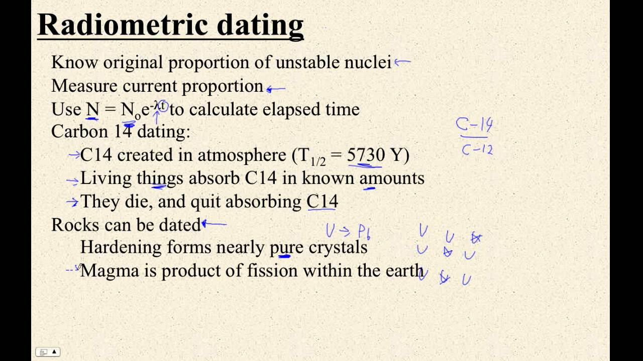 How to calculate radiometric dating