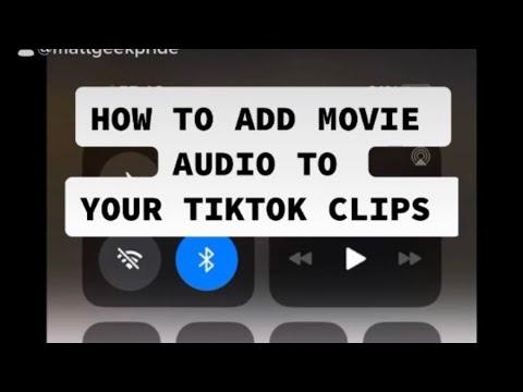 How To Add Movie Audio To Tiktok Youtube
