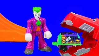 Thomas and friends minis Target Blast Imaginext Joker gets eaten by Ty Rux DinoTrux