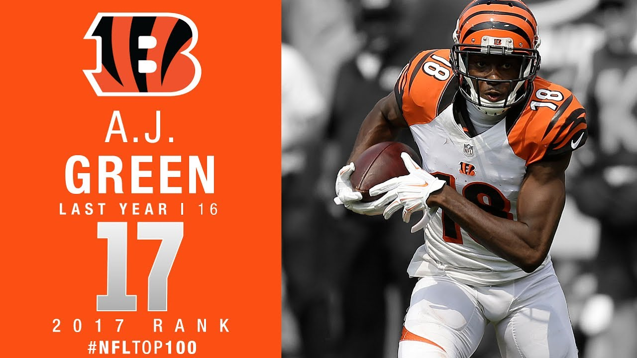 17 A J Green WR Bengals Top 100 Players of 2017
