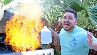 Video BBQ FIRE EMERGENCY!! (10.5.14 - Day 618) download MP3, 3GP, MP4, WEBM, AVI, FLV Agustus 2018