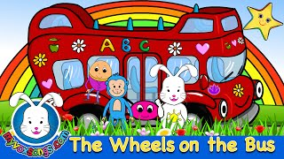 The Wheels On The Bus with lyrics | Nursery Rhymes