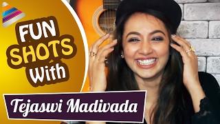 Tejaswi Madiwada Crush Revealed | Fun Shots with Tejaswi Madiwada | Telugu Filmnagar