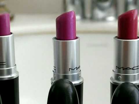 My Hot pink and purple lipstick collection - YouTube