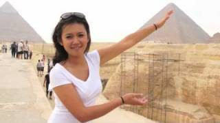 Natalie Tran in Egypt with Lonely Planet