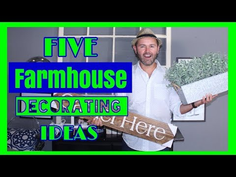 FARMHOUSE DECORATING IDEAS  On A Budget  / HOME INTERIOR DESIGN HACKS ( 2018 )