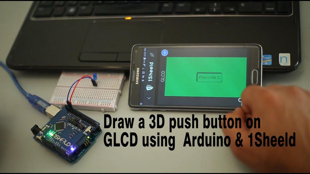 Arduino GLCD Shield acts as Arduino Shield via 1Sheeld