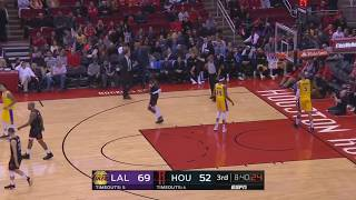 Lonzo Ball Injury (Carried off the Court) | Los Angeles Lakers vs Houston Rockets