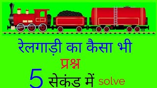 रेलगाड़ी वाले प्रश्न का हल (solution of train related problems )