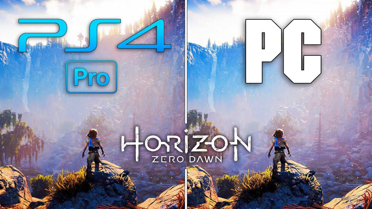 Horizon Zero Dawn : PC vs PS4 Pro - Graphics Comparison 4K