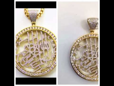 Bismillah icedout pendant highline custom jewelry youtube for Highline custom jewelry ig
